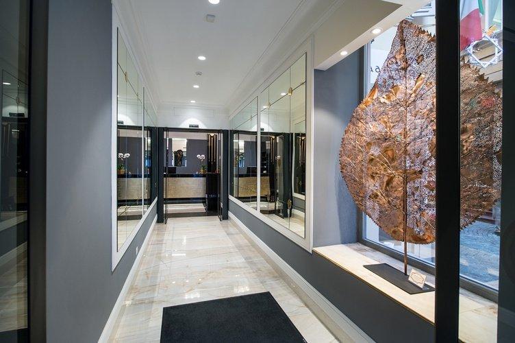 Entrée Art Hotel Orologio Bologne, Italie