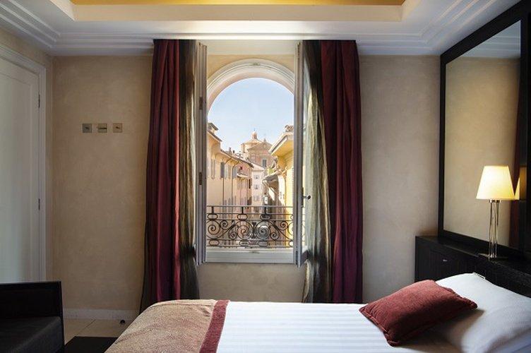 Chambre double  art hotel novecento bologne, italie