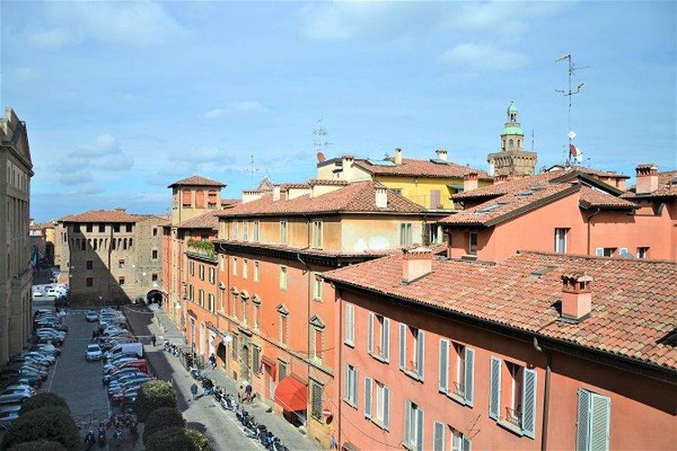 Vue panoramique  art hotel novecento bologne, italie