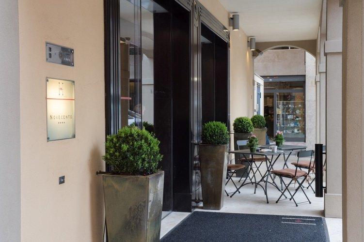 Entrée  art hotel novecento bologne, italie