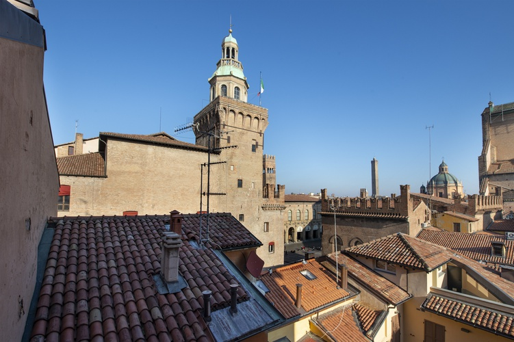 Vue panoramique  art hotel orologio bologne