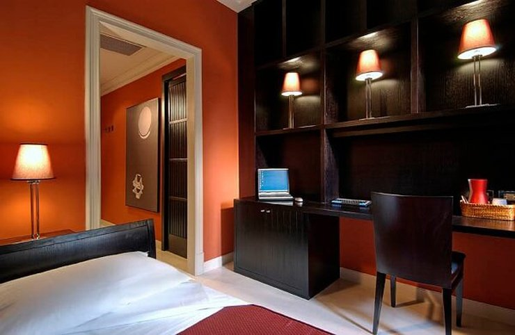 Chambre individuelle confort  art hotel novecento bologne, italie